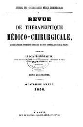 Revue de thérapeutique médico-chirurgicale: Volume1856