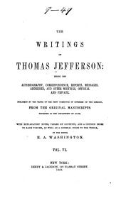 The Writings of Thomas Jefferson: Correspondence