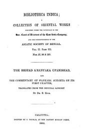 The Brihad Āraṇyaka Upanishad: And the Commentary of Śankar Āchārya on Its First Chapter