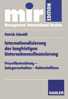 Internationalisierung der langfristigen Unternehmensfinanzierung PDF
