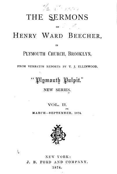 Download The Sermons of Henry Ward Beecher Book