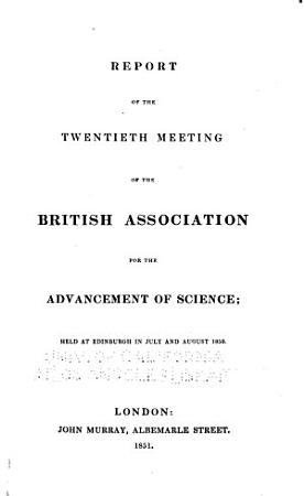 Report of the     Meeting of the British Association for the Advancement of Science PDF