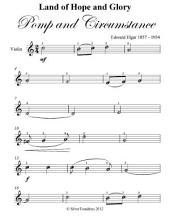 Land of Hope and Glory Pomp and Circumstance Easy Violin Sheet Music