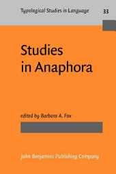 Studies in Anaphora