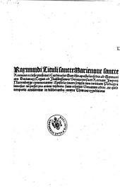 Raymundi .... Ad Ilulstrissimos (sic!) Senatores sacri Romani Imperij Nuremberge commorantes Epistola ... ne quid temporis amitteretur in deliberanda contra Thurcos expeditione (d.d. Ulme 30. July 1501.)