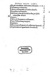 De arte testandi et cautelis ultimarum voluntatum tractatus ¬Ioannis ¬Dilecti ¬Durantis