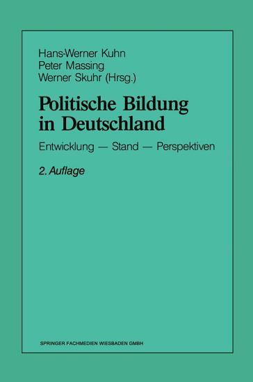Politische Bildung in Deutschland PDF