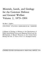 Minerals  Lands  and Geology for the Common Defence and General Welfare PDF