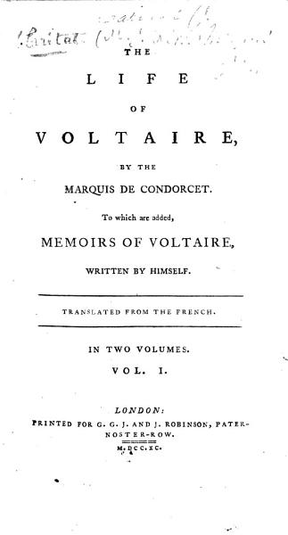 Download The Life of Voltaire Book
