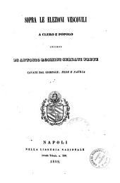 Sopra le elezioni vescovili a clero e popolo: lettere di Antonio Rosmini Serbati prete