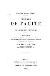 Dialogue des orateurs: texte latin revu et Publié d'après les travaux les plus récents