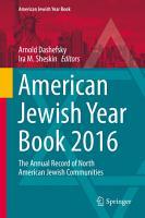 American Jewish Year Book 2016 PDF