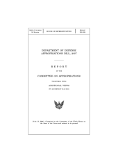Department of Defense appropriations bill, 2007 : report of the Committee on Appropriations together with additional views to accompany H.R. 5631)