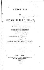 Memorials of Captain Hedley Vicars: Ninety-seventh Regiment