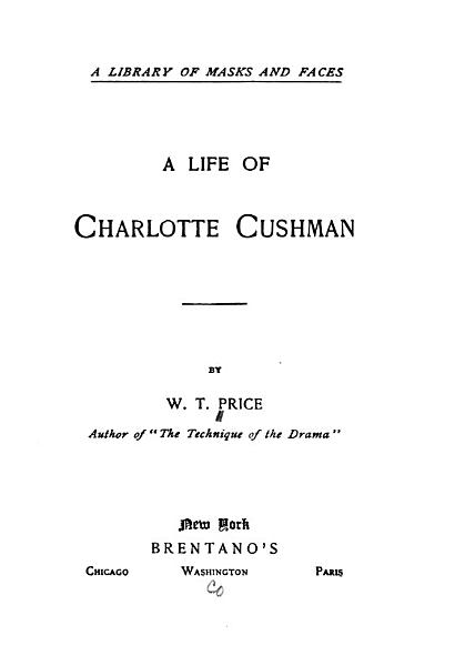Download A Life of Charlotte Cushman Book