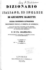 Dizionario Italiano, Ed Inglese: Italiano ed inglese
