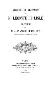Discours de réception [á l'Académie française]