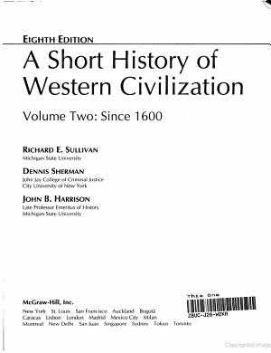A Short History of Western Civilization PDF