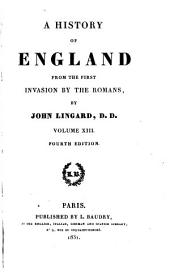 A History of England: From the First Invasion by the Romans, Volume 13