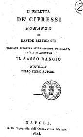 L'isoletta de' cipressi romanzo di Davide Bertolotti