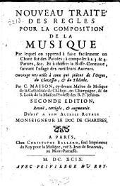 Nouveau traité des regles pour la composition de la musique