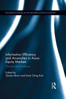 Information Efficiency and Anomalies in Asian Equity Markets PDF