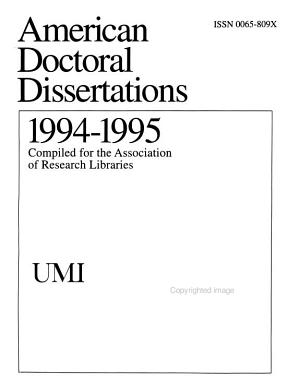 American Doctoral Dissertations PDF