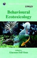 Behavioural Ecotoxicology PDF