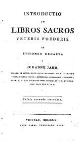 Introductio in libros sacros Veteris Foederis in epitomen redacta