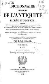 Dictionnaire classique de l'antiquite sacree et profane: (M-Z)