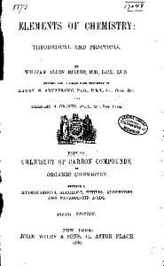 Elements of Chemistry: Organic chemistry