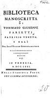 Biblioteca manoscritta di Tommaso Giuseppe Farsetti   A catalogue  By Jacopo Morelli   PDF