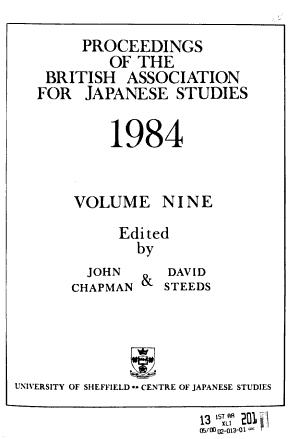 Proceedings of the British Association for Japanese Studies PDF