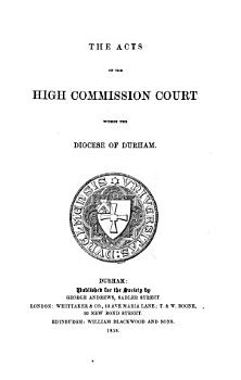 The Acts of the High Commission Court Within the Diocese of Durham PDF