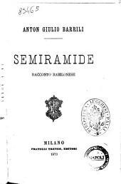 Semiramide racconto babilonese Anton Giulio Barrili
