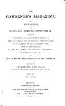 The Gardener's Magazine and Register of Rural & Domestic Improvement