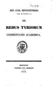 De rebus Tyriorum commentatio academia