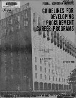 Guidance on Establishing Procurement Career Management Programs in Support of Executive Order 12352