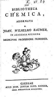 Bibliotheca chemica  adornata a Joan  Wilhelmo Baumer  in Academia Giessina medicinae professore primario PDF