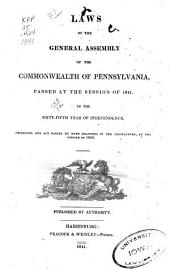 Laws of the General Assembly of the Commonwealth of Pennsylvania Passed at the Session