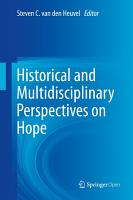 Historical and Multidisciplinary Perspectives on Hope PDF