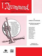 I Recommend: E-flat Alto Saxophone Part