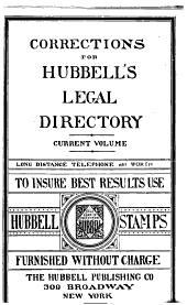 Hubbell's Legal Directory for Lawyers and Businessmen ...