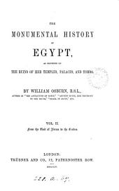 The monumental history of Egypt: Volume 2