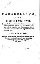 Parabolarum sive similitudinum