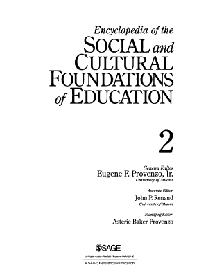 Encyclopedia of the Social and Cultural Foundations of Education PDF