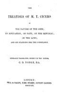Thr Treatises of M T  Cicero PDF
