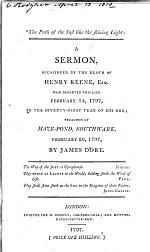 The Path of the Just, Like the Shining Light. A Sermon [on Proverbs Iv. 18], Occasioned by the Death of H. Keene, Esq