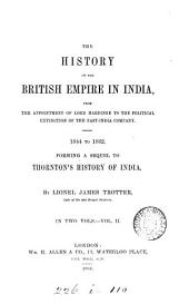 The history of the British empire in India, 1844 to 1862: Volume 2