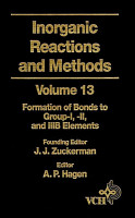 Inorganic Reactions and Methods  The Formation of Bonds to Group I   II  and  IIIB Elements PDF
